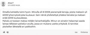 Etua.fi kokemuksia - sain lainaa!